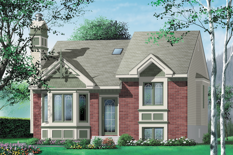 Traditional Style House Plan - 2 Beds 1 Baths 972 Sq/Ft Plan #25-1159 Exterior - Front Elevation