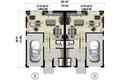 Contemporary Style House Plan - 6 Beds 4 Baths 3404 Sq/Ft Plan #25-4611 Floor Plan - Main Floor Plan