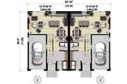 Contemporary Style House Plan - 6 Beds 4 Baths 3404 Sq/Ft Plan #25-4611 Floor Plan - Main Floor