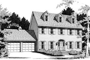 Victorian Exterior - Front Elevation Plan #10-219