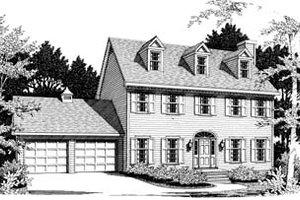 Victorian Exterior - Front Elevation Plan #10-219