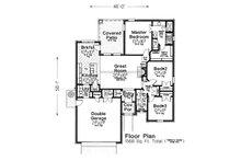 European Floor Plan - Main Floor Plan Plan #310-1285