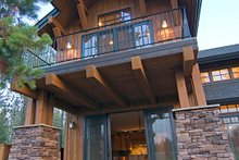 Craftsman style home, rear covered patio