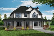 House Design - Country Exterior - Front Elevation Plan #124-285