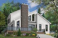 Architectural House Design - Modern Exterior - Front Elevation Plan #23-2019