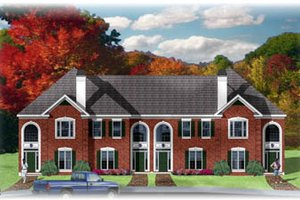 Traditional Exterior - Front Elevation Plan #26-217