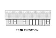 House Design - Ranch Exterior - Rear Elevation Plan #84-469