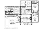 Colonial Style House Plan - 3 Beds 3 Baths 1818 Sq/Ft Plan #21-187 Floor Plan - Main Floor Plan