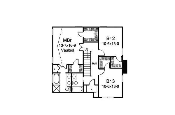 Dream House Plan - Traditional Floor Plan - Upper Floor Plan #57-693