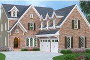 European Style House Plan - 5 Beds 5 Baths 3922 Sq/Ft Plan #419-233