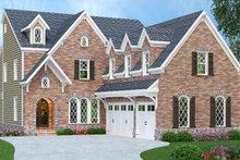 Dream House Plan - European Exterior - Front Elevation Plan #419-233