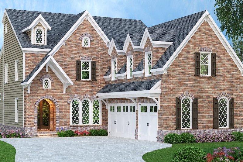 House Plan Design - European Exterior - Front Elevation Plan #419-233