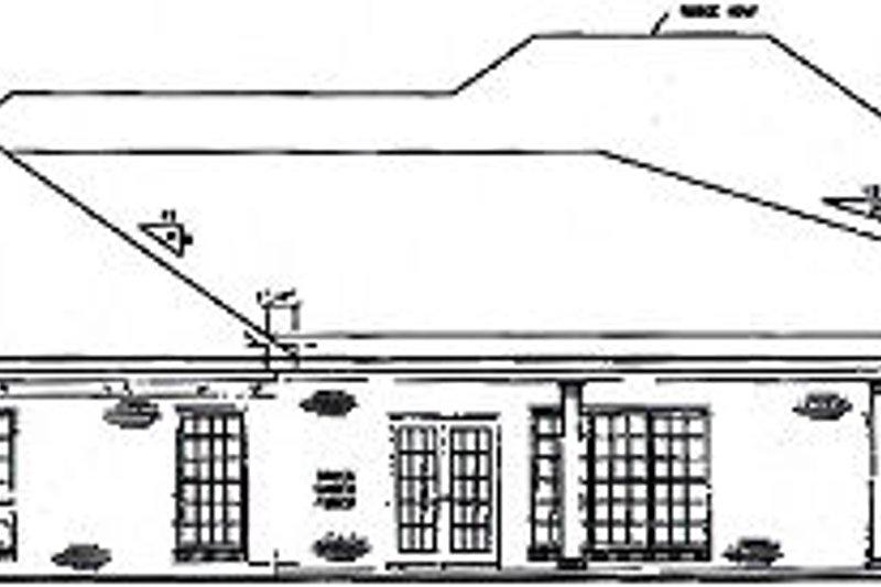 Southern Exterior - Rear Elevation Plan #36-445 - Houseplans.com