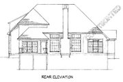 European Style House Plan - 3 Beds 2.5 Baths 2341 Sq/Ft Plan #41-159 Exterior - Rear Elevation