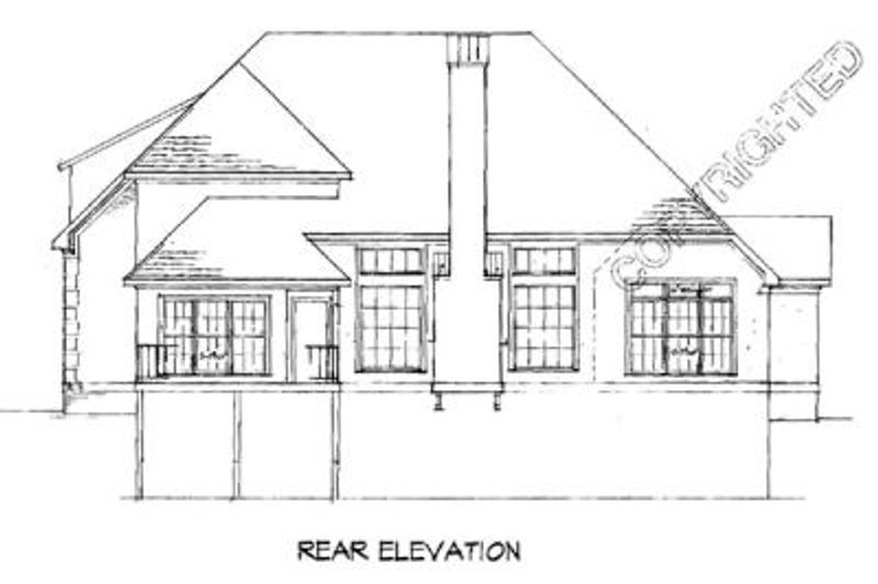European Exterior - Rear Elevation Plan #41-159 - Houseplans.com
