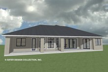 Architectural House Design - Ranch Exterior - Rear Elevation Plan #930-487