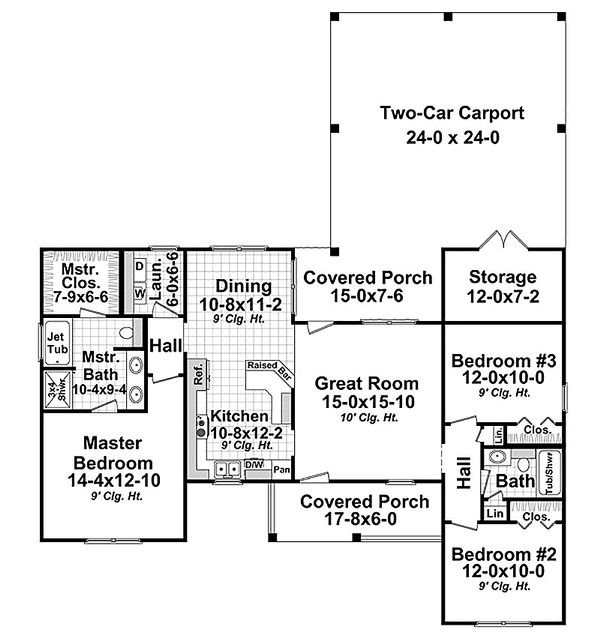 Country Floor Plan - Main Floor Plan Plan #21-319