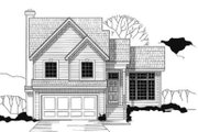 Traditional Style House Plan - 3 Beds 2 Baths 1444 Sq/Ft Plan #67-144 Exterior - Front Elevation