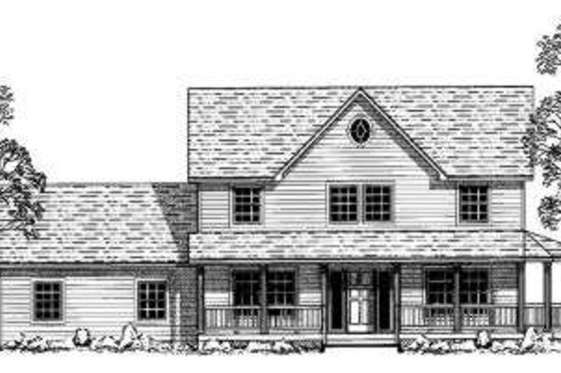 Country Style House Plan - 4 Beds 2 Baths 2032 Sq/Ft Plan #303-353 Exterior - Front Elevation