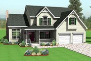 Traditional Style House Plan - 3 Beds 2.5 Baths 2296 Sq/Ft Plan #75-178 Exterior - Front Elevation