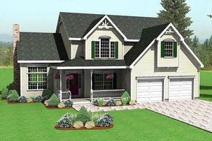 Traditional Exterior - Front Elevation Plan #75-178