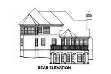 Colonial Exterior - Rear Elevation Plan #429-33