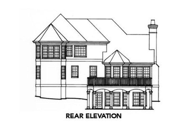 Colonial Exterior - Rear Elevation Plan #429-33 - Houseplans.com