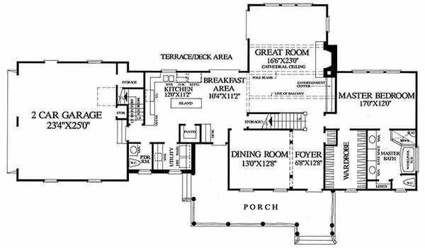 Country Floor Plan - Main Floor Plan Plan #137-131