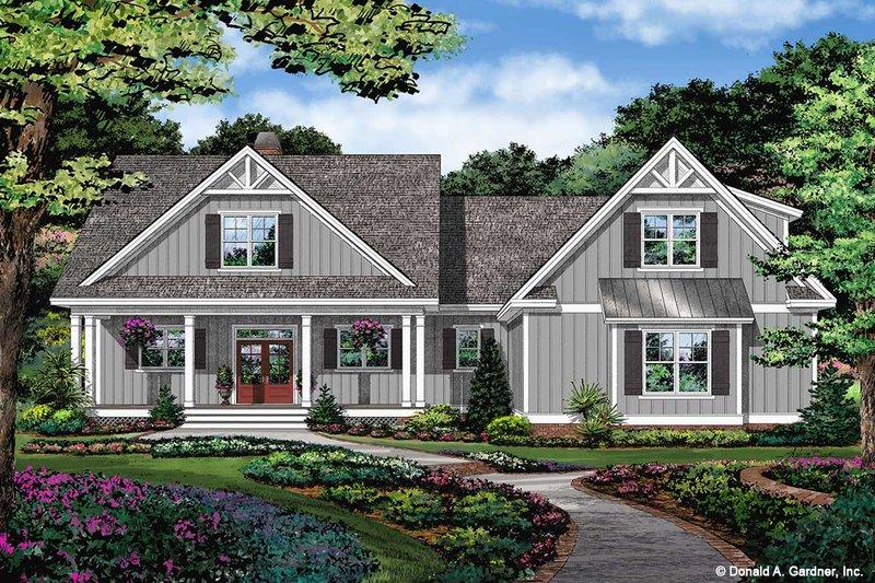 Architectural House Design - Farmhouse Exterior - Front Elevation Plan #929-1111