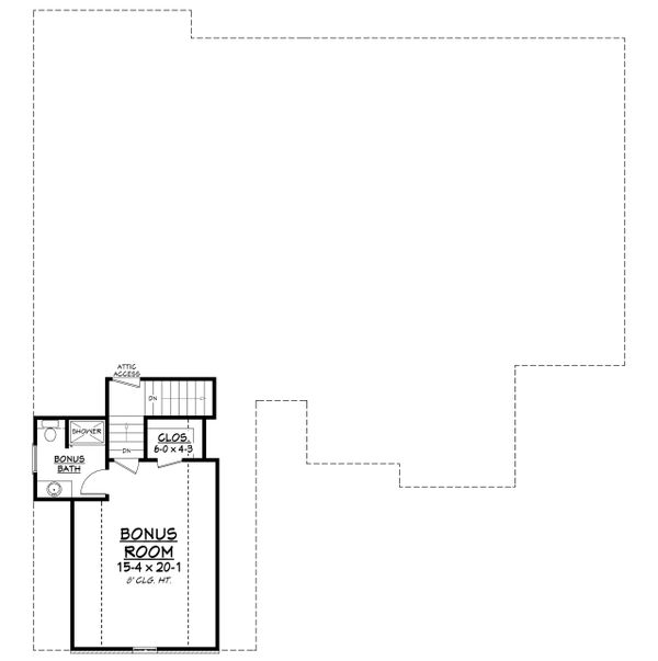 European Floor Plan - Upper Floor Plan Plan #430-139