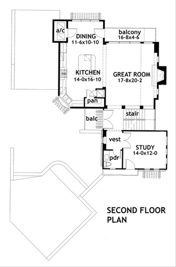 Modern Floor Plan - Upper Floor Plan #120-169