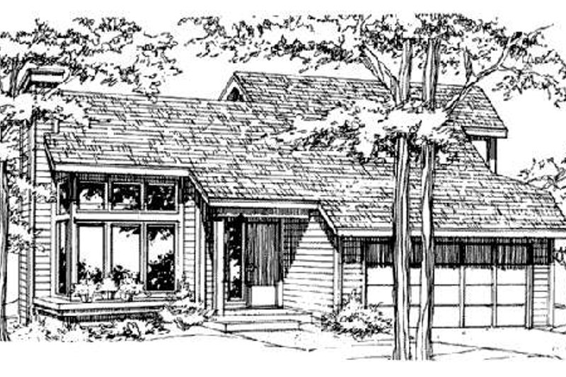 Traditional Style House Plan - 3 Beds 2 Baths 1246 Sq/Ft Plan #320-327 Exterior - Front Elevation