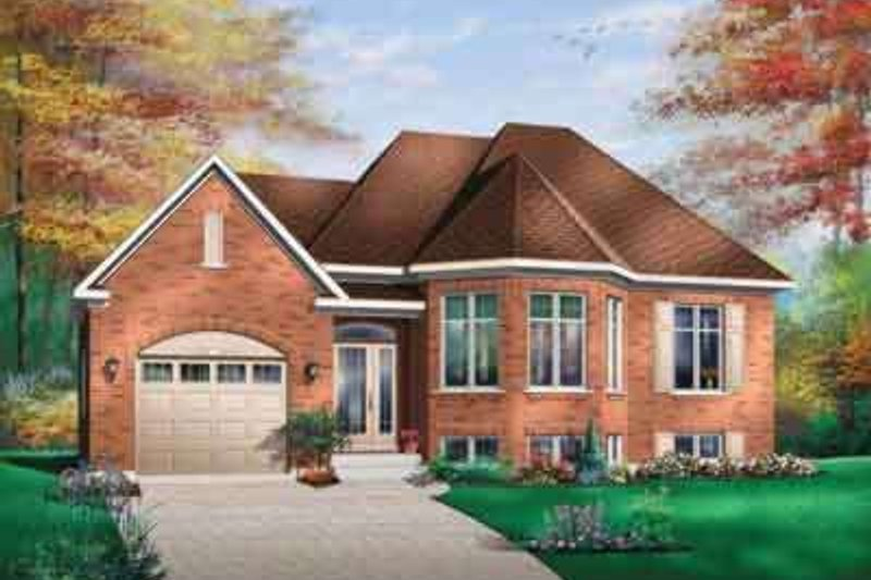 House Plan Design - European Exterior - Front Elevation Plan #23-481