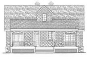 Cottage Style House Plan - 3 Beds 2.5 Baths 1704 Sq/Ft Plan #456-25 Exterior - Rear Elevation