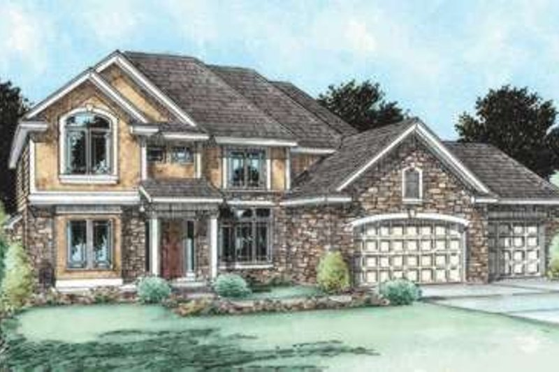 Traditional Exterior - Front Elevation Plan #20-1796 - Houseplans.com