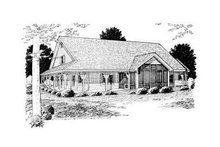 House Plan Design - Country Exterior - Rear Elevation Plan #20-168