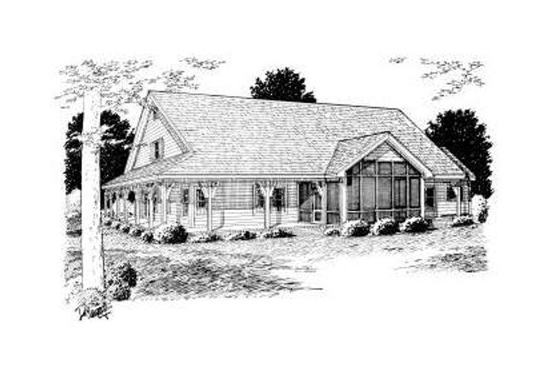 Country Exterior - Rear Elevation Plan #20-168 - Houseplans.com