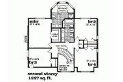 Traditional Style House Plan - 4 Beds 2.5 Baths 2559 Sq/Ft Plan #47-633 Floor Plan - Upper Floor Plan