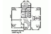 Traditional Style House Plan - 4 Beds 2.5 Baths 2559 Sq/Ft Plan #47-633 Floor Plan - Upper Floor Plan