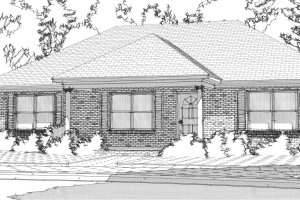 Ranch Exterior - Front Elevation Plan #63-363