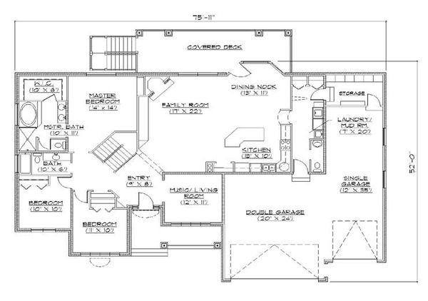 European Floor Plan - Main Floor Plan Plan #5-265