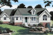 Traditional Style House Plan - 3 Beds 2 Baths 1990 Sq/Ft Plan #312-620 Exterior - Front Elevation