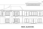 European Style House Plan - 4 Beds 4.5 Baths 4831 Sq/Ft Plan #17-2559 Exterior - Rear Elevation