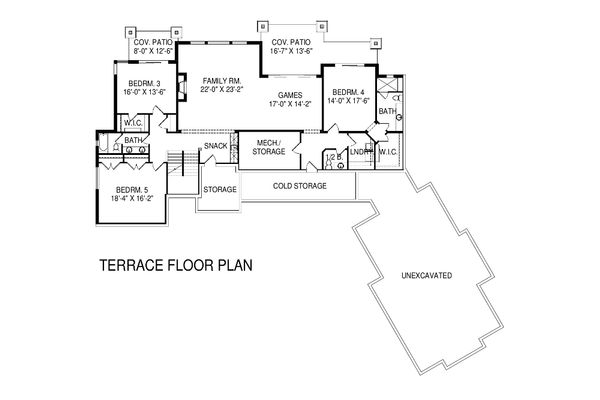Floor Plan - Lower Floor Plan #920-16