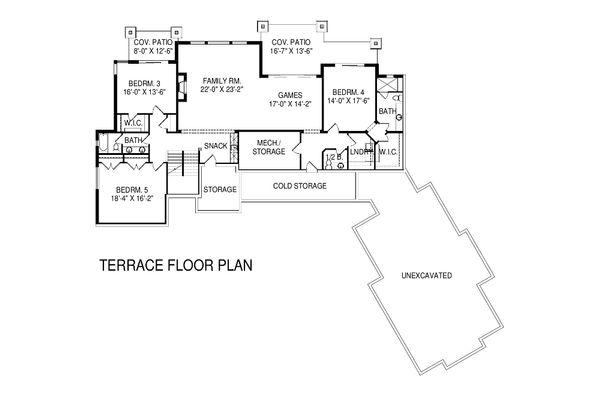 Home Plan - Floor Plan - Lower Floor Plan #920-16