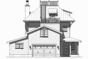 Beach Style House Plan - 4 Beds 3.5 Baths 3470 Sq/Ft Plan #901-124 Exterior - Rear Elevation