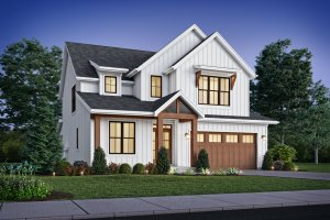 Dream House Plan - Contemporary Exterior - Front Elevation Plan #48-1035