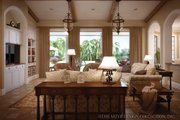 Mediterranean Style House Plan - 3 Beds 2.5 Baths 2191 Sq/Ft Plan #930-12 Interior - Family Room