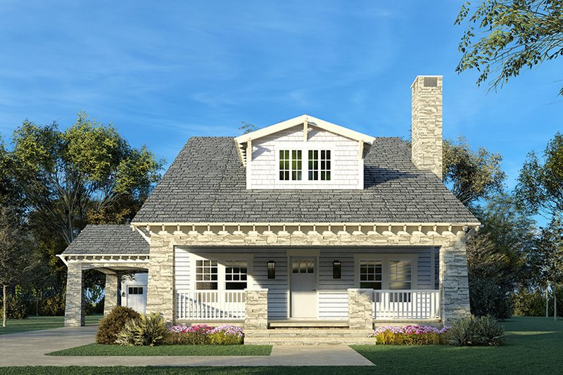 Dream House Plan - Country Exterior - Front Elevation Plan #923-149