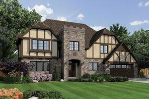 Tudor Exterior - Front Elevation Plan #48-664